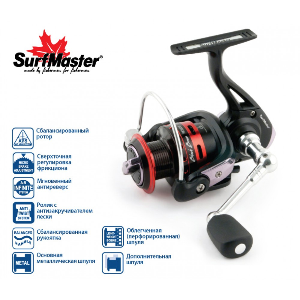 Катушка Surf Master Black Bass FB 3500